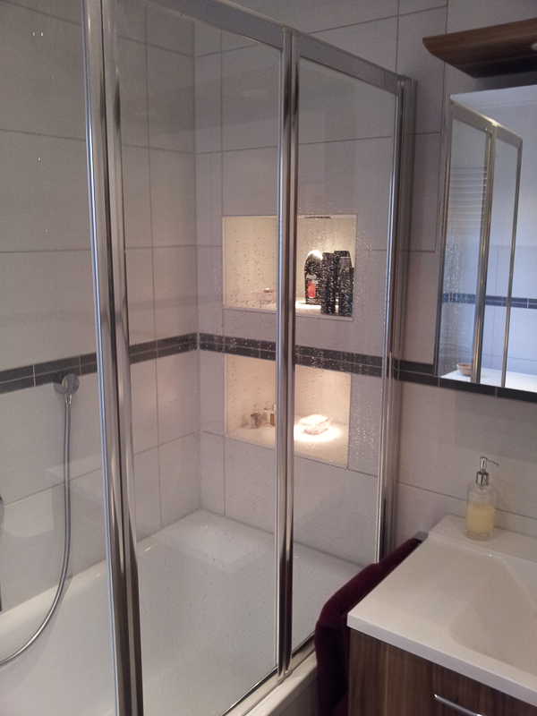 Badewannendusche nach Renovierung