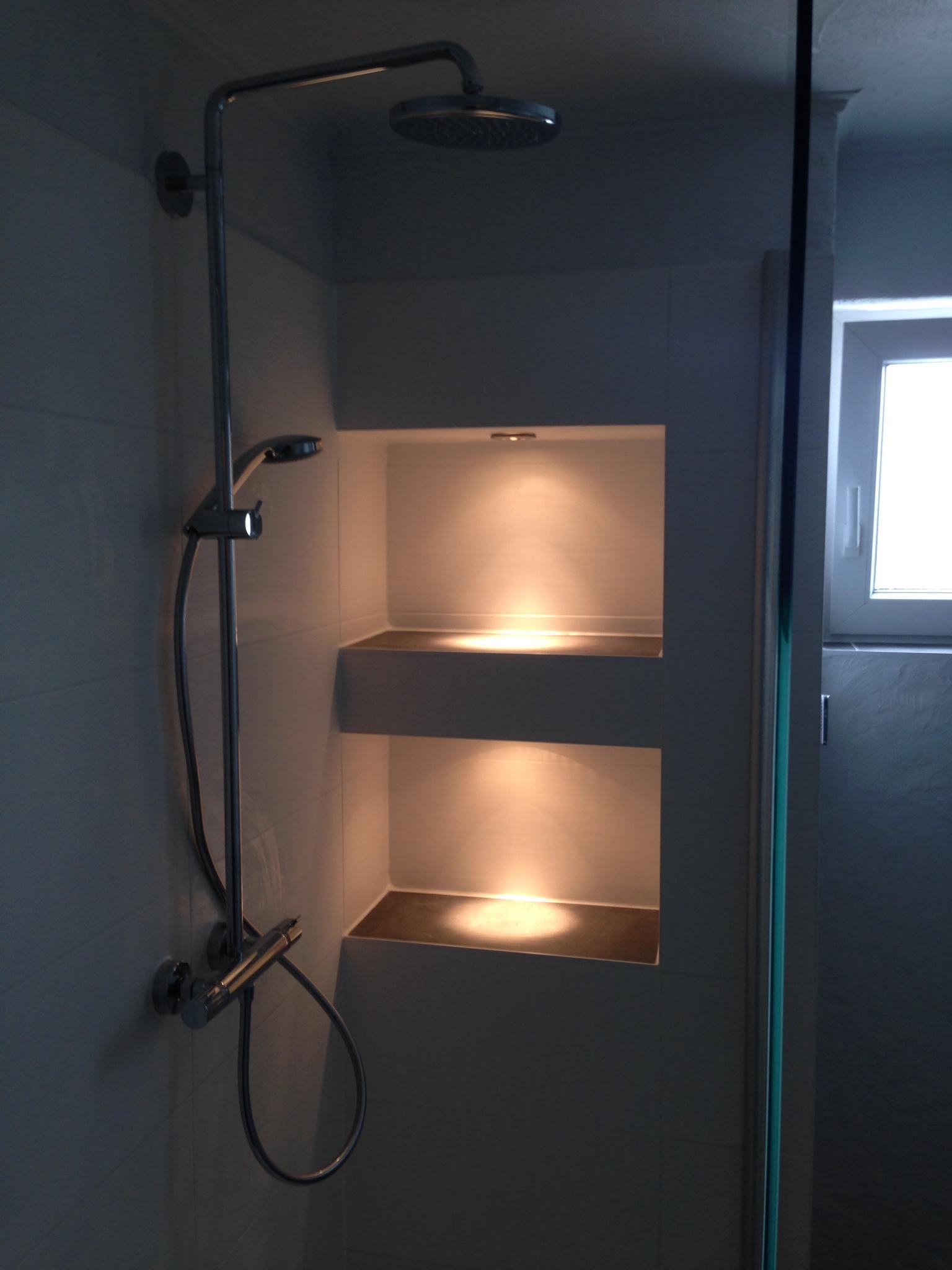 Begehbare Dusche nach Renovierung