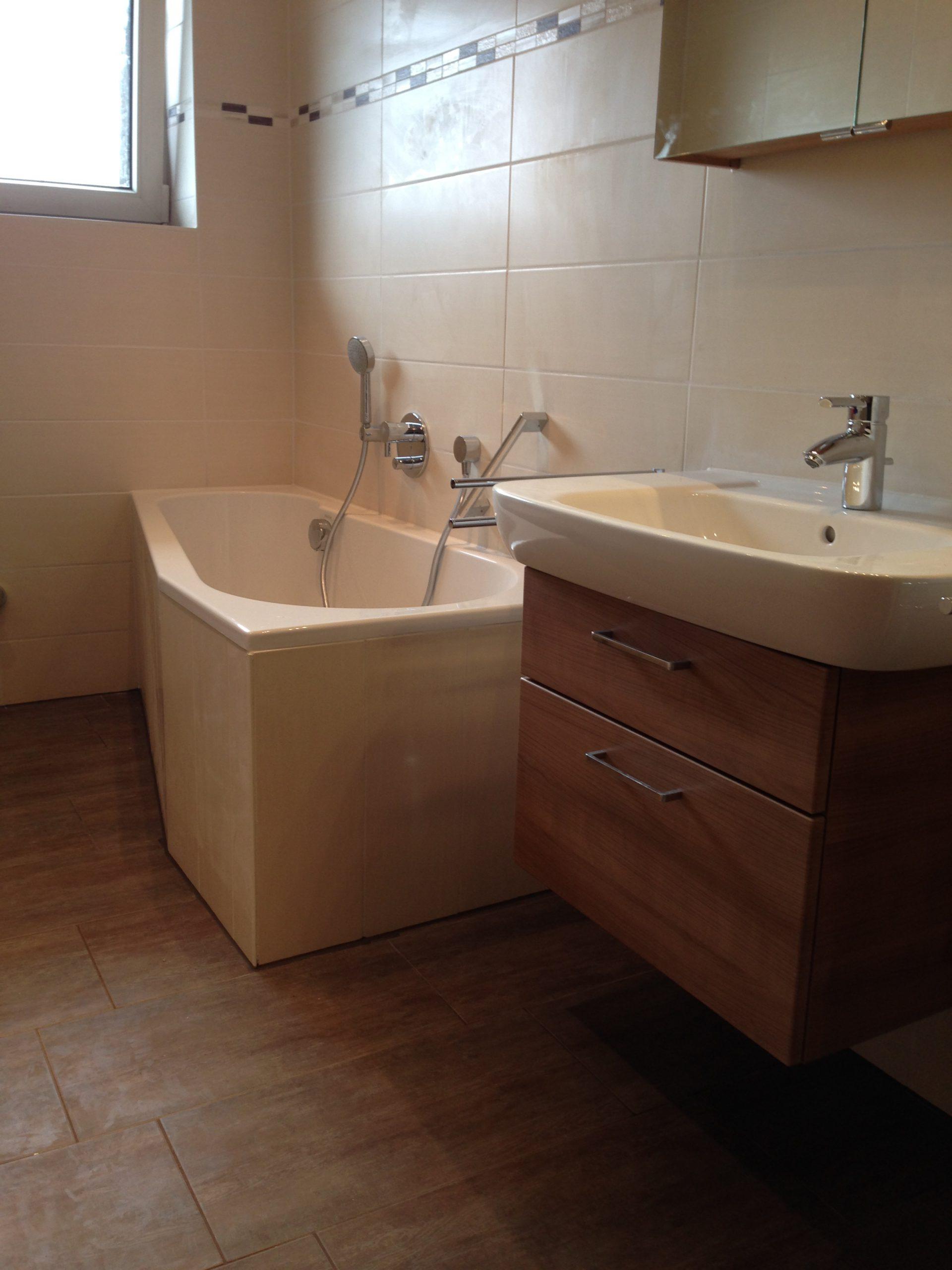 Kleines Badezimmer nach Sanierung